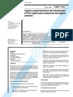 NBR 07367 - 1988 - Projeto e Assentamento de Tubulações de PVC.pdf