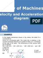Helpful example on Velocity and Acceleration diagram