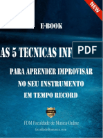 E-book as 5 Tecnicas Infaliveis Para Improvisar No Seu Instrumento