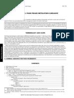 Food Fraud Mitigation Guidance