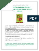 Bol. Informativo Gran Villa 2016-2