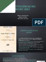 Constitución de Rio Negro 1863