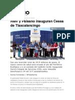 08.12.016 Diario Cambio - RMV y Paisano Inauguran Cessa de Tlaxcalancingo