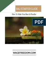 2016 Bali Starter Guide Wage Freedom