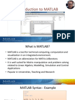 Part 1 Introduction to MATLAB - Overview