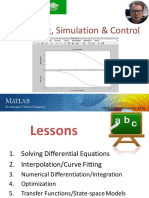 Part 2 Modelling and Simulation in MATLAB - Overview