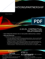 contracts andpartnerships