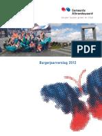 Burgerjaarverslag 2012