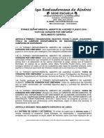 Reglamento Torneo Departamental 2016
