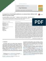 A Comparison of Web Blight Epidemics on Common Bean Cultivars