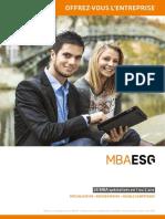 Brochure Mba Esg