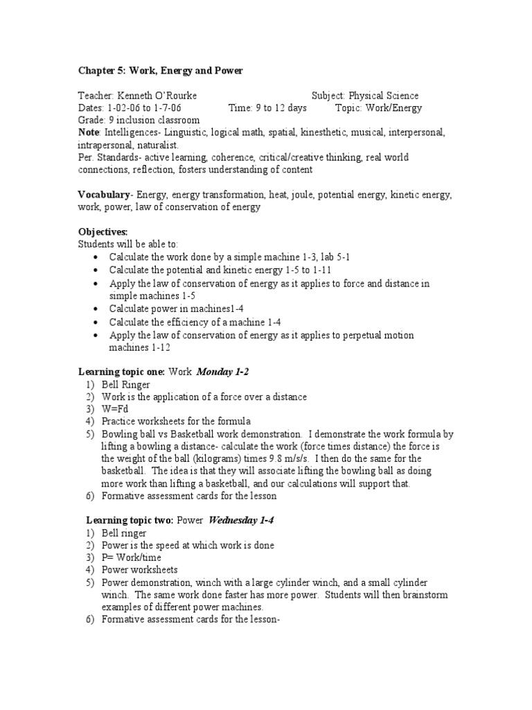 worksheet Work And Machines Worksheet ckdilp potential energy kinetic energy