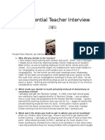 influential teacher interview