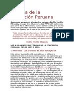 Historia de La Educación Peruana Siglo Xx