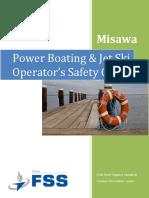 Power Boating Jet Ski Operators Safety Guide