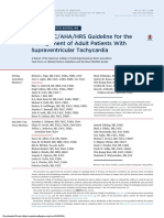 2015 ACCAHAHRS Guideline for the Management of Adult Patients With Supraventricular Tachycardia