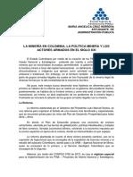 La Minería en Colombia, La Política Minera y Los Actores Armados en El Siglo Xxi