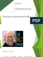 History of Java