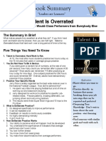 62432344 Talent is Overrated Book Summary