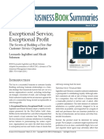 201411627 Exceptional Service Exceptional Profit Book Summary