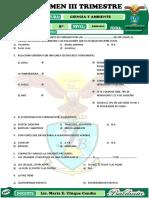 Examen Trimestral de Ciencia y Ambiente III Trimestre
