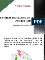 Instalaciones hidraúlicas; Roma Antigua
