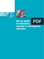 Qué y Cómo Investigar en Educación