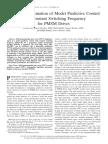 FPGA Implementation of Model Predictive