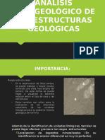 Analisis de Interpretacion Fotogeologia Para Estructuras