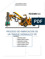 Proceso de Fabricación de Un Tanque Hidraúlico - RESEMIN