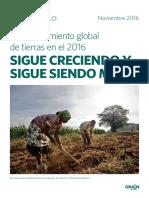 Grain. El Acaparamiento Global de Tierras en El 2016 Sigue Creciendo y Sigue Siendo Malo