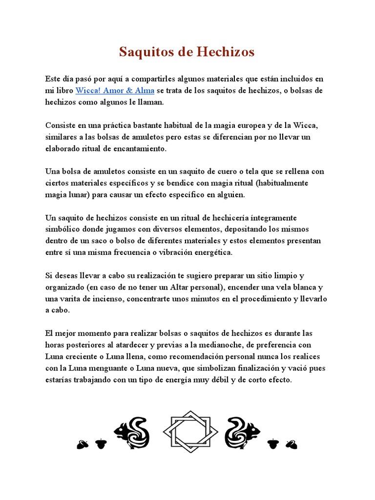 pdf amp;alma Hechizos Bolsas De amor Wicca nXUw6zq