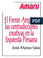 EL FRENTE AMPLIO Y LAS CONTRADICCIONES CREATIVAS EN LA IZQUIERDA PERUANA