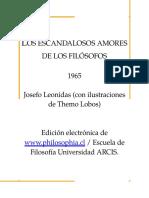 Los Escandalosos Amores de Los Filosofos Josefo Leonidas Nitro PDF