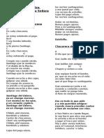 Cancionero Patronales N. S. Balvanera