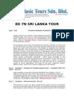8D Sri Lanka - Mr Kally