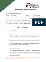 Contrato Prestacion Servicios Profesionales Abogado-mex
