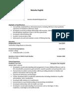 nursing resume - natasha english1