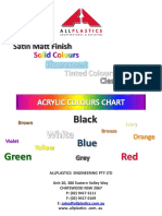 Allplastics Catalog for Acrylic Sheets Colour Chart