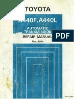 Toyota Land Cruiser FJ60 FJ62 FJ70 Transmision Caja Automatica A440F A440L Manual Reparacion Ingles