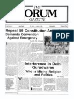 The Forum Gazette Vol. 3 No. 14 July 20-August 4, 1988