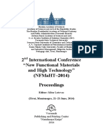 "2nd International Conference  ""New Functional Materials  and High Technology"" ( (N NF FM Ma aH HT T– –2 20 01 14 4) )   P Pr ro oc ce ee ed di in ng gs s   Editor"