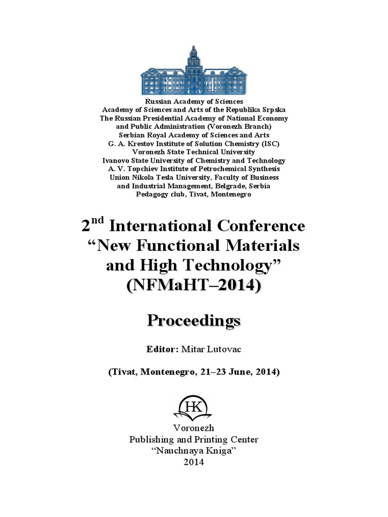 2nd international conference new functional materials and high 2nd international conference new functional materials and high technology n nf fm ma ah ht t 2 20 01 14 4 p pr ro oc ce ee ed di in fandeluxe Gallery