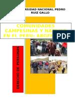 Comunidades Campesinas y Nativas