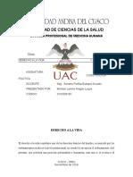 DERECHO A LA VIDA Y ABORTO.docx