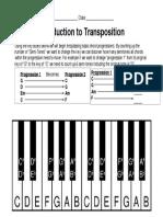 basic transposition work sheet