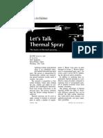 Lets Talk Thermal Spray