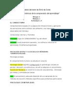 """Análisis Erick de Corte """"Desarrollos Históricos de La Comprensión Del Aprendizaje"""""""