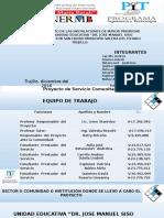 SERVICIO COMUNITARIO FASE I Y FASE II INGENIERIA UNERMB EXTENSIÓN TRUJILLO