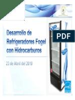 Equipos Con Refrigerantes Hidrocarburos  (HC). Marca FOGEL.